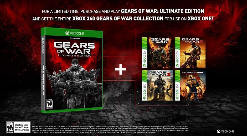Quem jogou Gears of War Ultimate Edition tem jogos X360 de graça