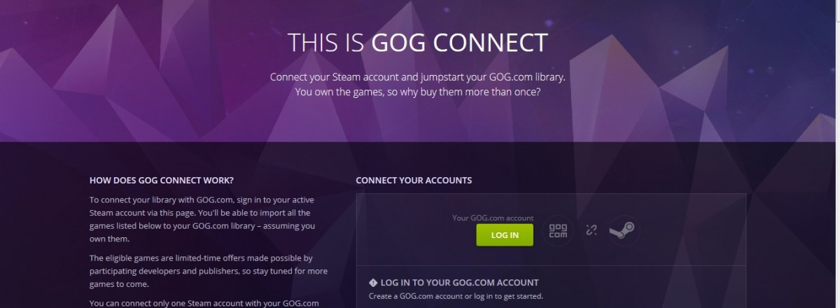 how to connect gog to steam