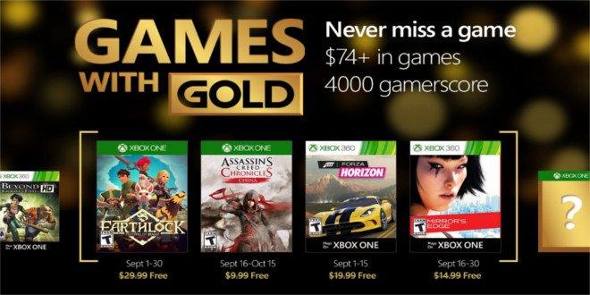 Estes são os jogos oferecidos em Setembro no Xbox Live Gold