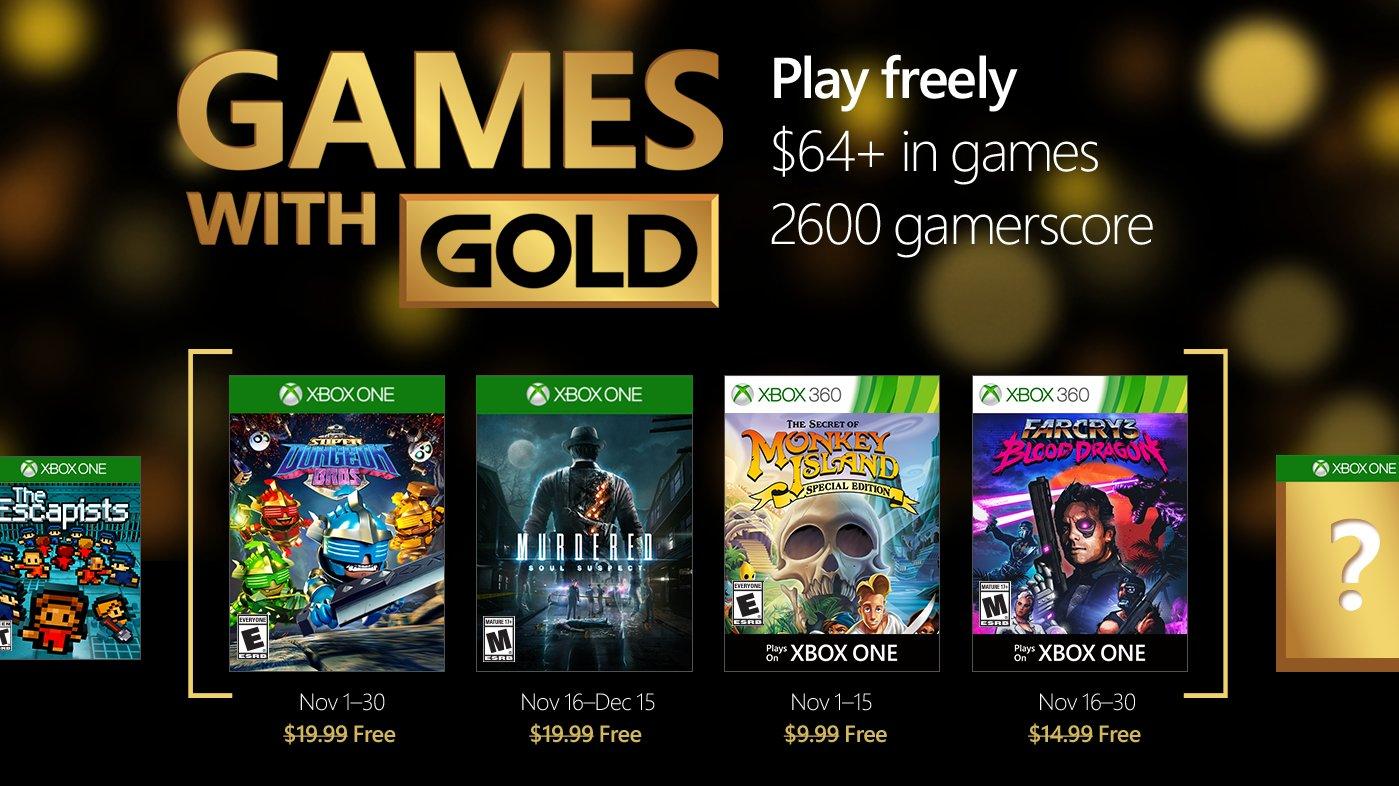 Jogos Xbox Live Gold em oferta em Novembro
