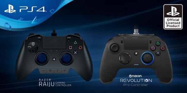 Novos comandos Razer e Nacon para PlayStation 4