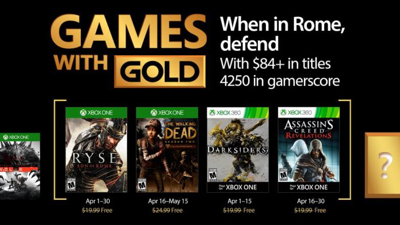 Já são conhecidos os jogos oferecidos em Abril no Xbox Live Gold