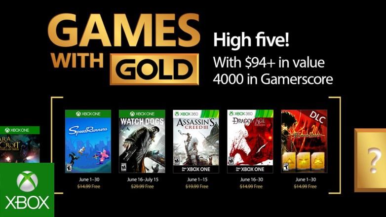 Junho trará mais jogos gratuitos no Xbox Live Gold