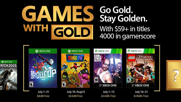 Mais jogos grátis em Julho no Xbox Live Gold