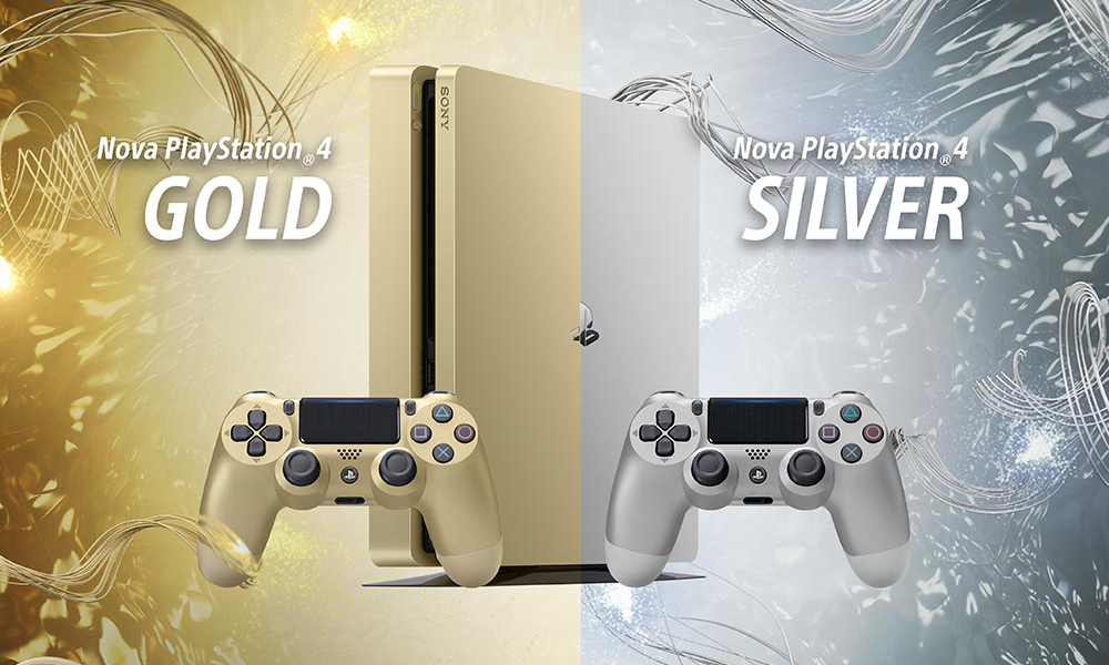 A Sony anuncia PS4 em dourado e prateado