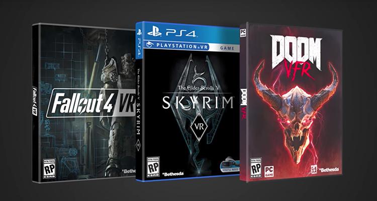 Skyrim VR, Fallout 4 VR e DOOM VR chegam ainda neste ano