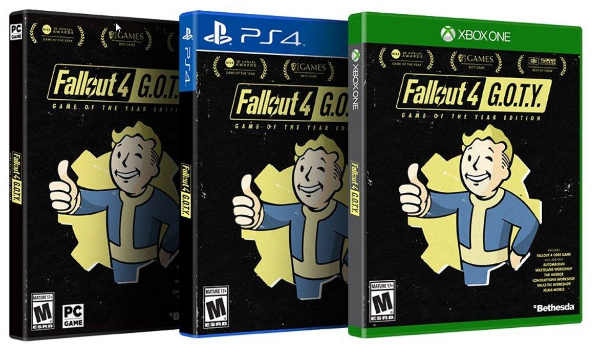 Anunciada edição G.O.T.Y. de Fallout 4