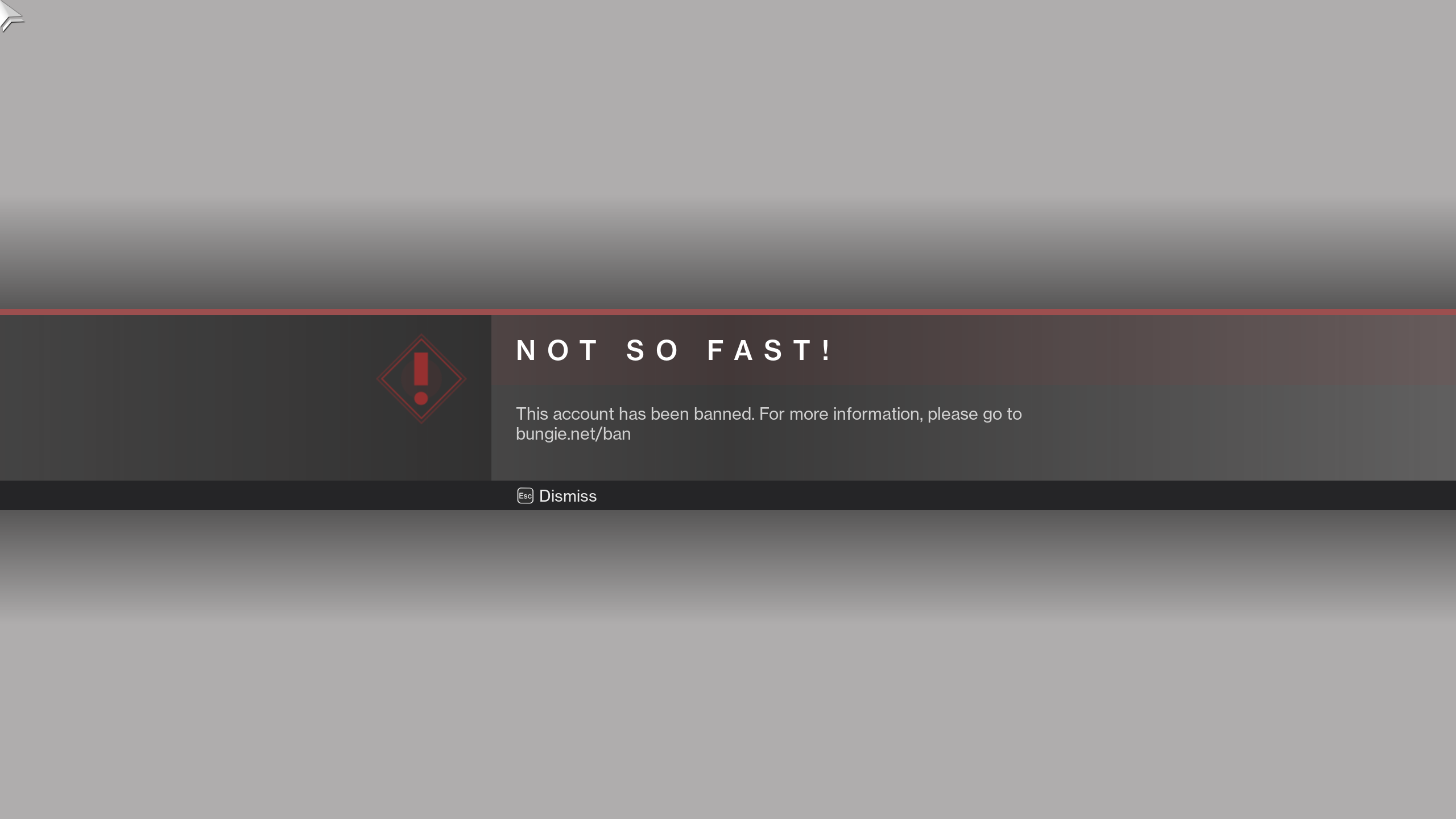 Centenas de jogadores de PC banidos em Destiny 2