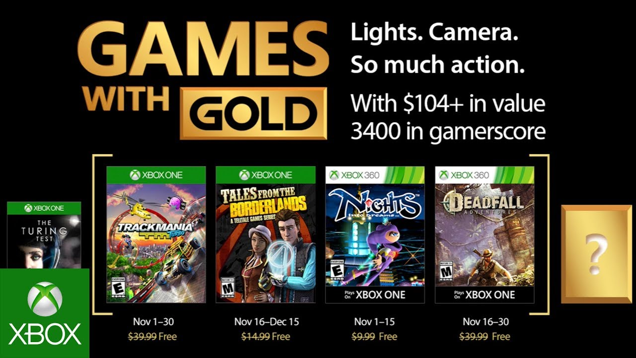 Já são conhecidos os jogos Gold de Novembro do Xbox Live