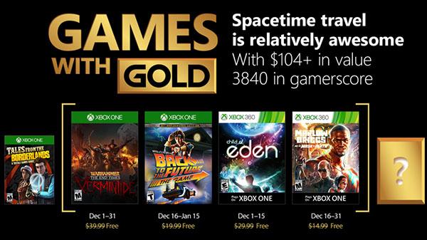 Xbox Live Gold para Dezembro
