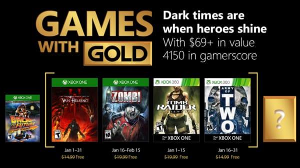 Lista de jogos para Janeiro no Xbox Live Gold