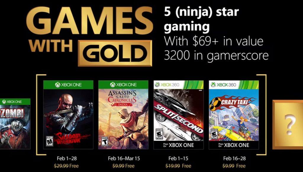 Jogos Xbox Live Gold para Fevereiro