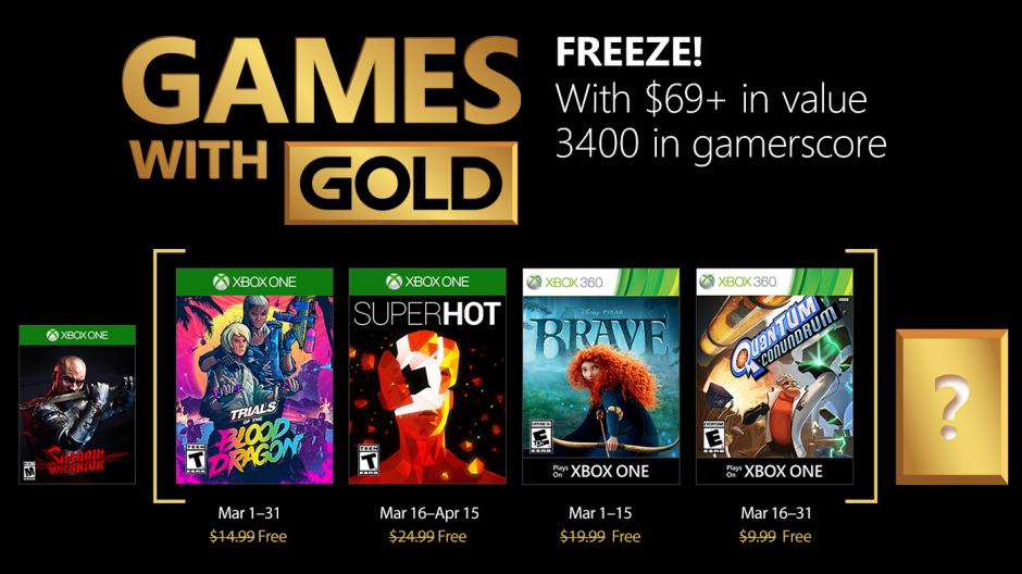 Jogos gratuitos em Março com o Xbox Games with Gold