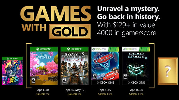 """Jogos """"Gold"""" no Xbox Live em Abril"""
