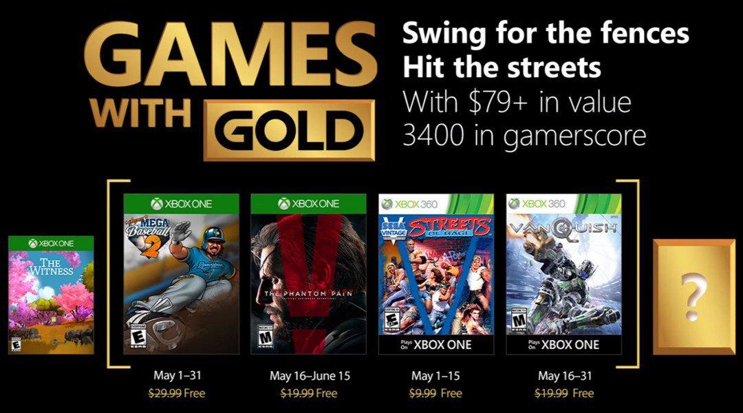 Jogos Gold para Maio no serviço Xbox Live