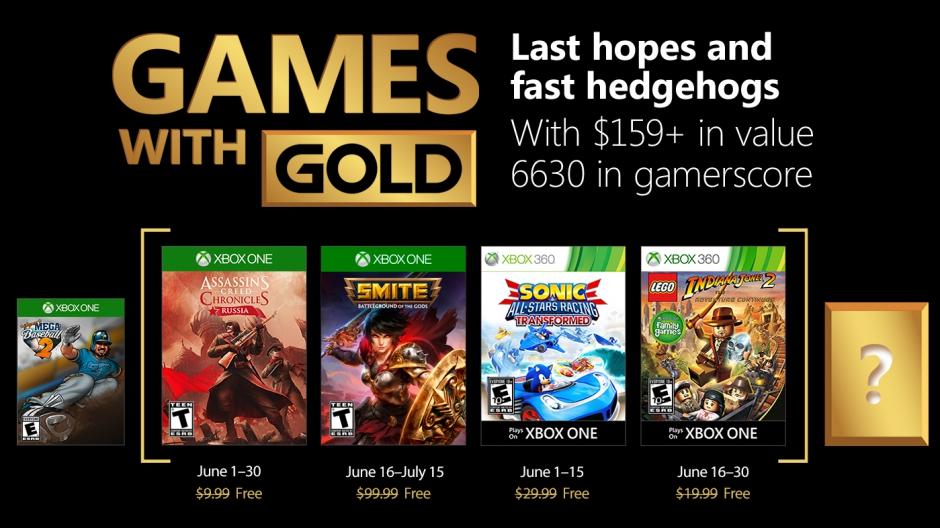 Jogos gratuitos no Xbox Games With Gold em Junho