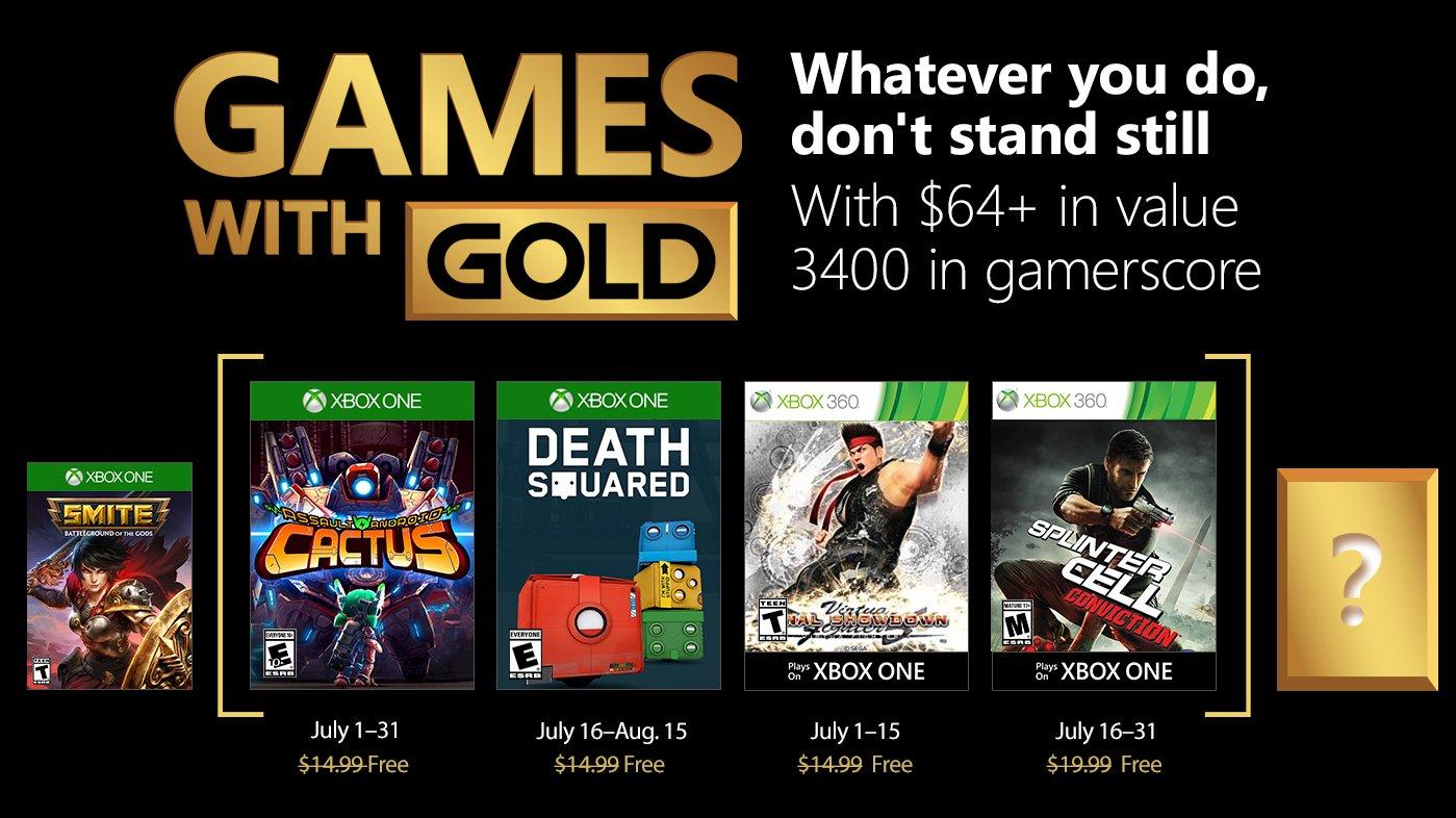 Lista de jogos para Julho no Xbox Live Gold