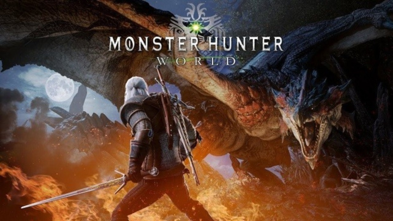 Geralt de Rivia e um novo DLC a chegar a Monster Hunter World