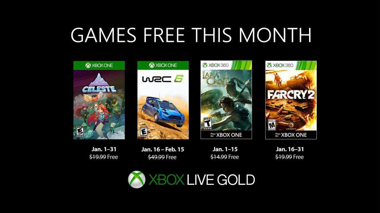 Lista de jogos para Janeiro no Xbox Games With Gold