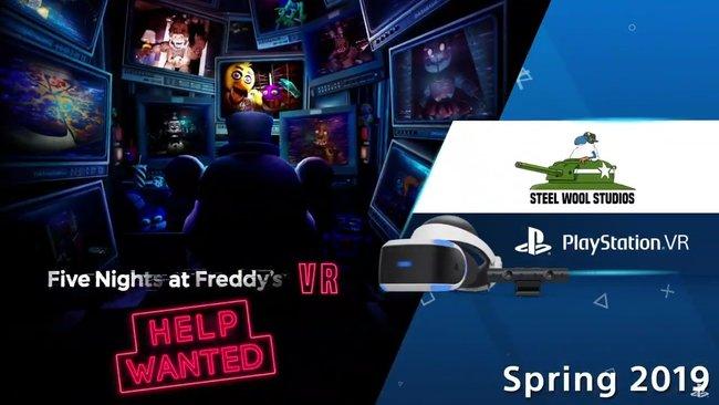 Five Nights at Freddy's anunciado para PlayStation VR