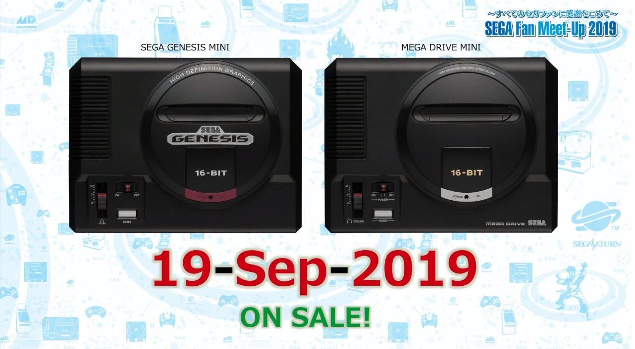 SEGA anuncia nova data de lançamento da Mega Drive Mini