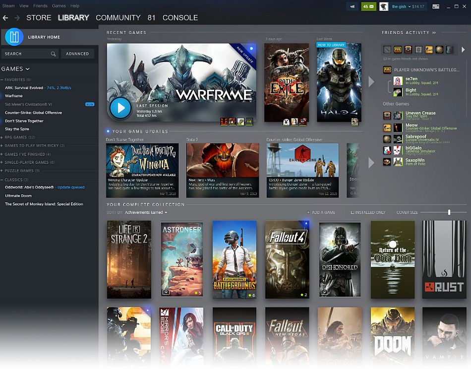 Valve mostra o novo interface do Steam