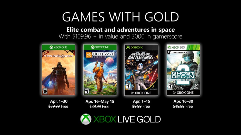 Jogos para Abril no Xbox Games With Gold