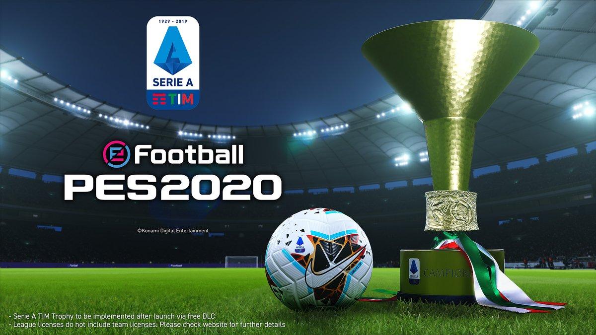 Seria A Italiana confirmada em eFootball PES 2020