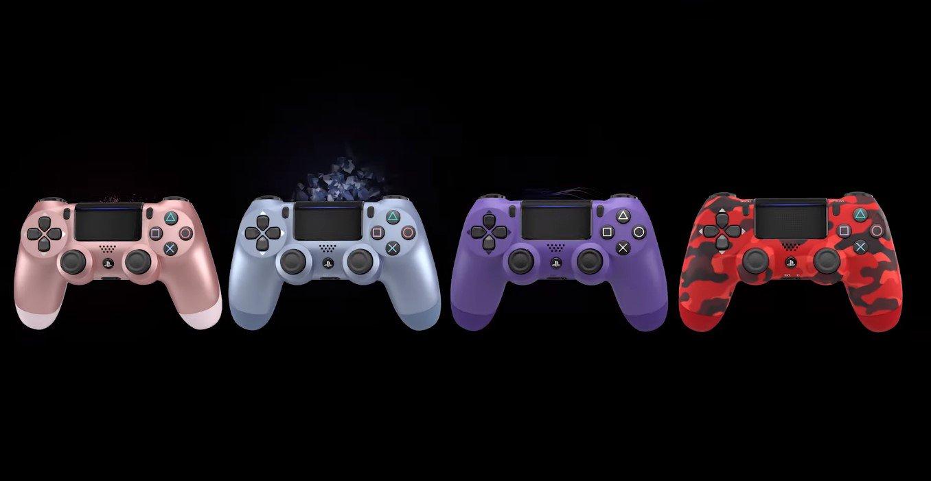 DualShock 4 recebe quatro novas cores