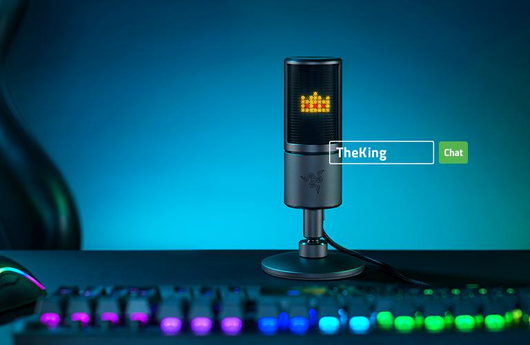 """Razer revela novo microfone Seiren com """"emoticons"""""""