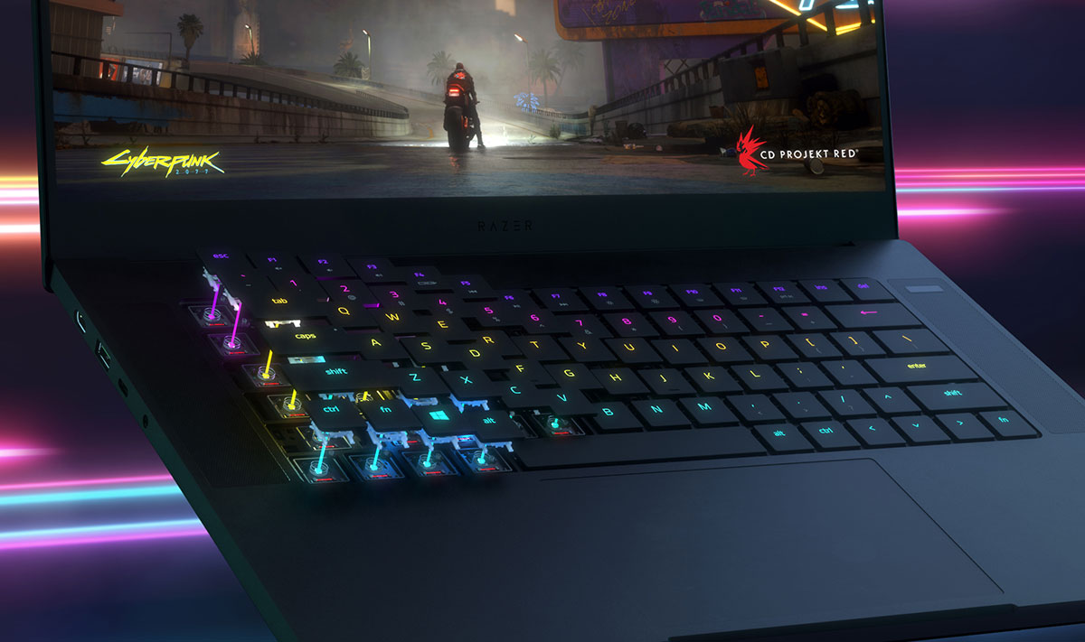 Razer coloca teclado óptico no portátil Razer Blade 15