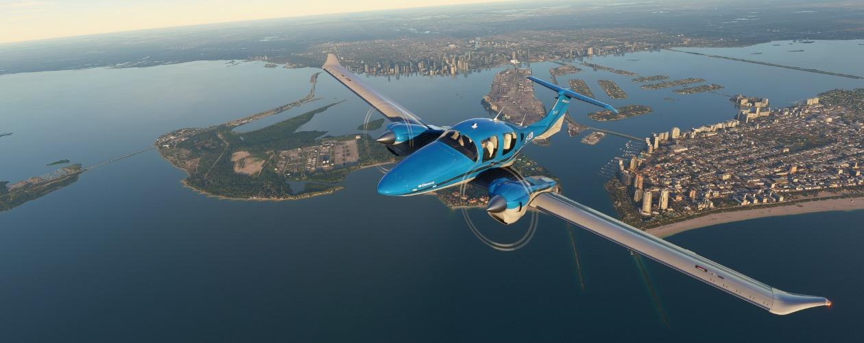 Vídeo mostra aviões e aeroportos de Microsoft Flight Simulator