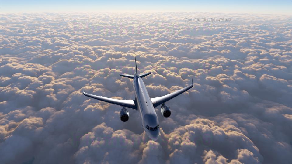 A simulação de nuvens em Microsoft Flight Simulator