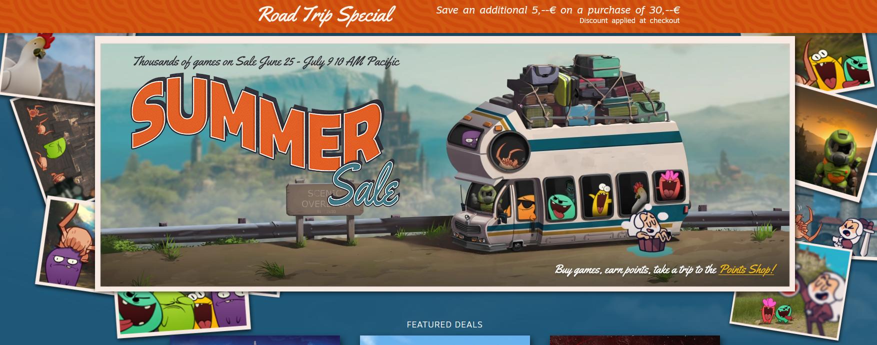 Saldos de Verão no Steam já no ar