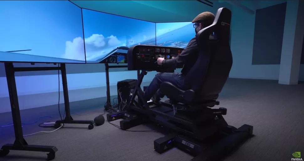 """Nvidia apresenta a sua ideia de um simulador de voo """"definitivo"""""""