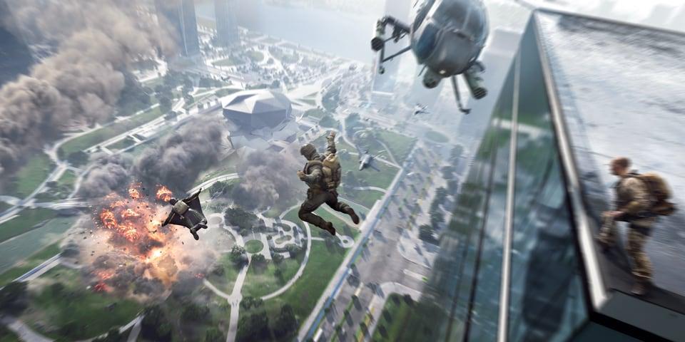 Beta aberta de Battlefield 2042 no próximo mês