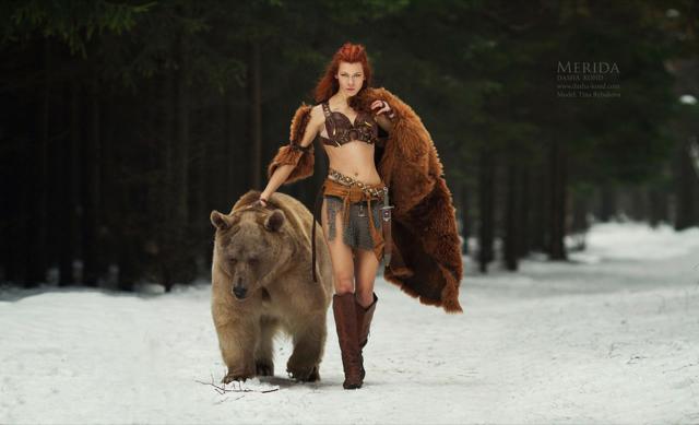 A bela e o urso, num ensaio digno de um épico dos videojogos
